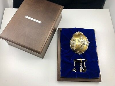 Franklin Mint House of Faberge Winter Enchantment Egg Sterling & Gold Sapphires