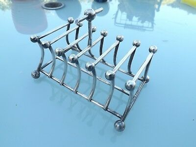 Antique Silver Plated Plate Toast Rack 4308 - Christopher Dresser ?