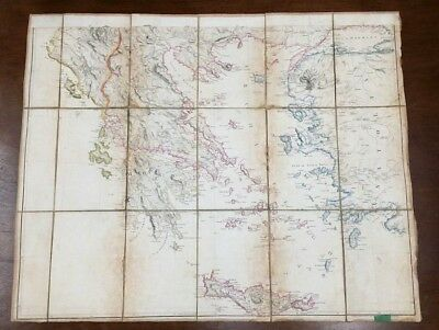 Carte Ancienne Moree Grece Anatolie Turquie 1801 Arrow Smith