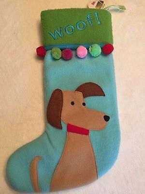"""Woof"" Christmas stocking by TAG, NWT"