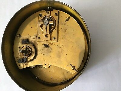 French Timepiece Clock In a Brass Case