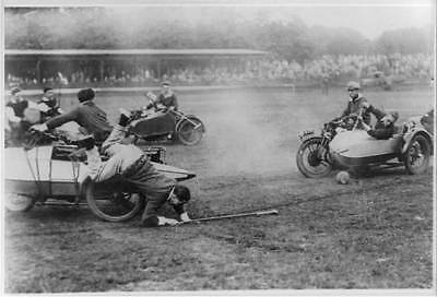 Just a Hanger on,Loughton,England,Side Car,King's Oak Team,Motorcycle Polo Game