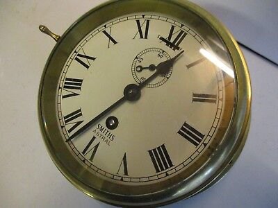 Smiths Astral Brass Ships Bulkhead Clock