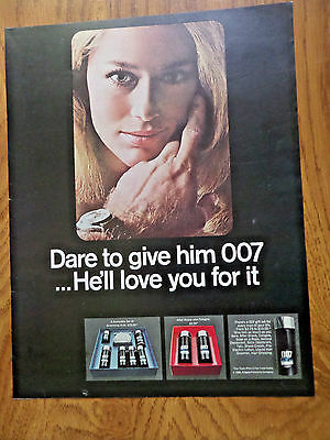 1966   007 After Shave Ad  James Bond Theme