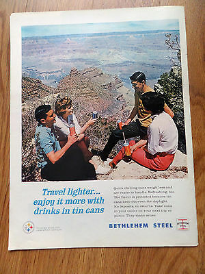 1964 Bethlehem Steel Can Ad  Grand Canyon Theme