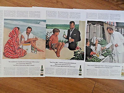 1966 Schweppes Soda Pop Ad Commander Whitehead   Lot of 3 Ads