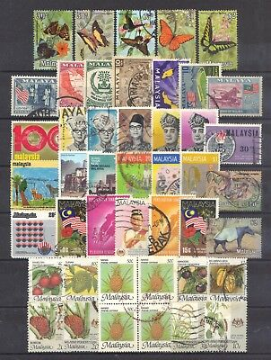 Malaysia-page of stamps.