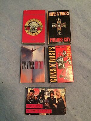 GUNS N' ROSES Cassette Tape LOT Rare RARE single
