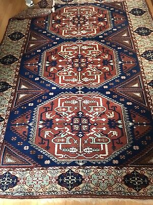 TRUE Vintage Antique Turkish ORIENTAL rug large Hand made Wool 8 X 6 BROWN