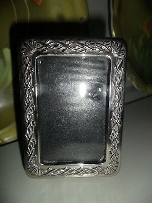 Lovely Small Antique Silver Plated Photo Frame