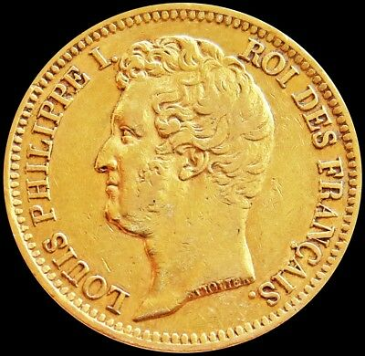 1831 A Gold France 20 Francs Louis Philippe Coin Extremely Fine Condition