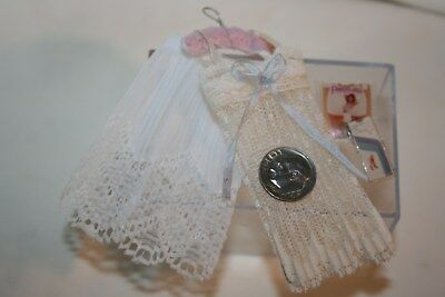 Miniature Dollhouse Pair of Lady's Slips & Pantyhose in Package 1:12 Lingerie NR