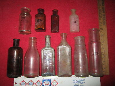 Lot Of 10 Assorted Military Fort Site Bottles ( Fort Custer, Montana )