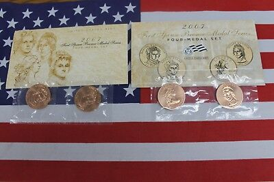 2007 First Spouse Bronze Medal Series - Four Medal Set - United States Mint