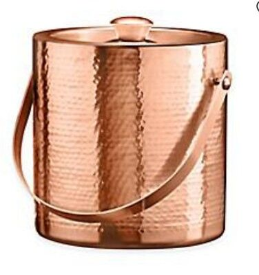 Ice bucket Copper plated Stainless Steel hammered finish. Double wall
