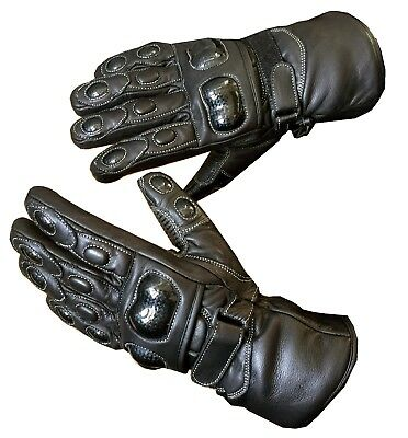 Winter Waterproof Motorbike Motorcycle Leather Gloves for Winter Thermal Warm