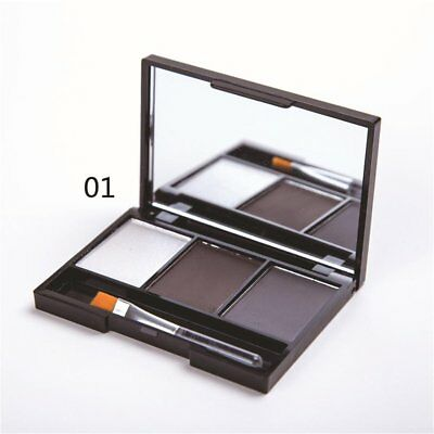 New waterproof, not blooming 3 tri-color eyebrow powder M2