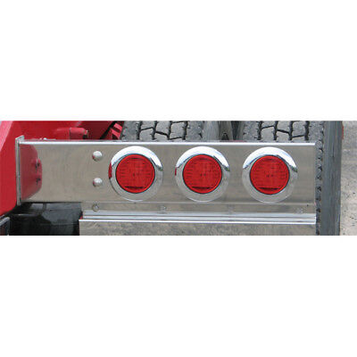 "SS Mud Flap Hanger Spring Loaded Light Bars w/ Red LED/Lens 3.75"" Bolt Spacing"