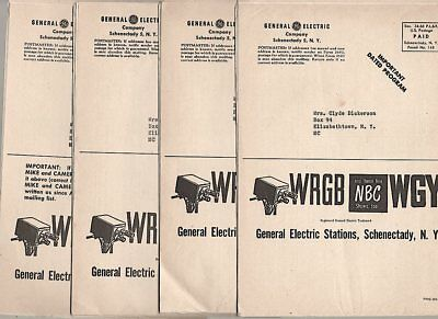FOUR 1954 NBC Television Program Guides WRGB SCHENECTADY NY Mike And Camera