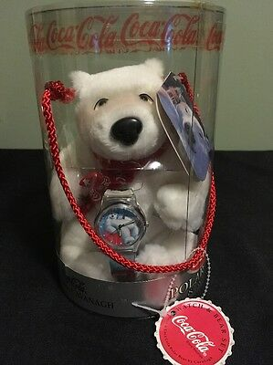 1999 COCA-COLA SILVER EDITION  WATCH and POLAR BEAR by CAVANAGH