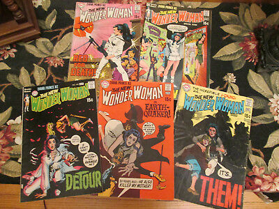 WONDER WOMAN 5 Comics Lot. (Numbers 185, 187, 189, 190, 191) (1969 & 1970)