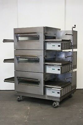 Lincoln Impinger 1132-002 Commercial Triple Stack Electric Conveyor Pizza Oven