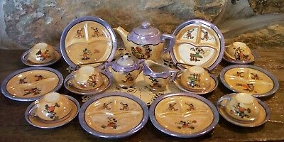 1930's mickey minnie mouse lusterware china tea set japan disney