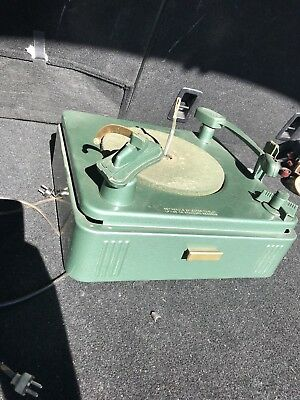 Vintage Philco Turntable In Great Shape Metal Shell Record Player