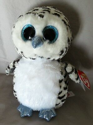 "LUCY the OWL - Ty 6 "" Beanie Boos - NEW with MINT TAGS - Justice Exclusive"