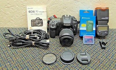 Canon Eos 7D Mark II with 18-55mm and 430EX III-RT Flash, Accessories