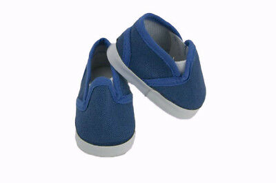 """Blue Canvas Slip On Shoes Fits Wellie Wishers 14.5"""" American Girl Clothes"""