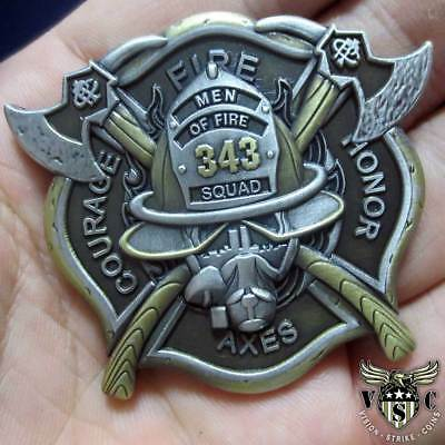 343 9/11 Never Forget Coin Firefighter Challenge Coin