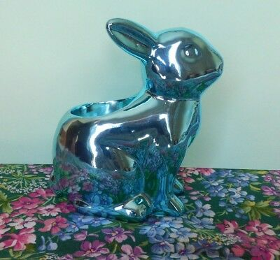 Yankee Candle TEAL BUNNY TEALIGHT HOLDER BLUE RABBIT EASTER BEAUTIFUL NEW