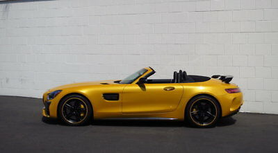 """2018 Mercedes-Benz AMG GT-C Roadster ~ $179k+ MSRP ~ """"Solarbeam Yellow"""" ~ As New 4.0L Twin-Turbo V8 (550hp) - Burmester Hi-End Audio - Dinamica Steering Wheel"""