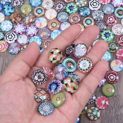 200X DIY Mosaic Glass Crystal Cabochons Snaps Buttons for Jewelry Making 10-16mm