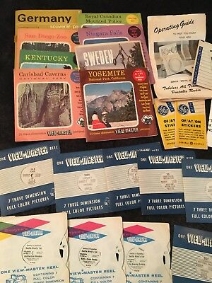 vintage viewmaster slide lot travel attractions history TV