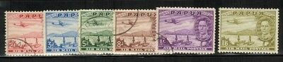 Papua New Guinea #C10-15 Complete Set Unwmk Perf.11 1938 Used/MH(C15)