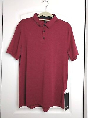 Lululemon EVOLUTION POLO Size S L XL Royal Ruby Red RLRY