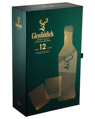 Glenfiddich 12 Year Old Scotch Whisky Gift Pack 700mL pack