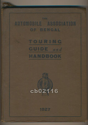 Vintage 1927 India Touring Guide and Handbook w/ Rare Calcutta Bengal Road Maps