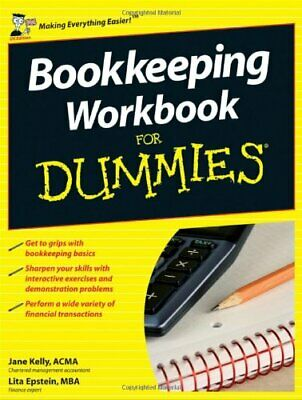 Bookkeeping Workbook For Dummies (UK Edition) by Epstein, Lita Paperback Book