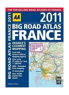 Big Road Atlas France 2011 by AA Publishing Paperback Book The Cheap Fast Free