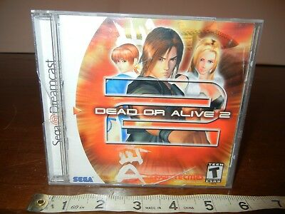 Dead or Alive 2 Dreamcast Video game Complete Great Condition