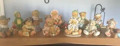 Cherished Teddies- 11 Fall And Halloween Themed Pieces W/ Boxes