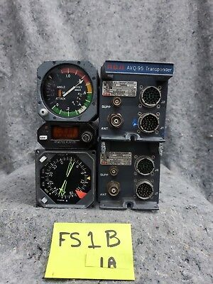 Lot of 2 Old Aircraft Transponders 3 Gauges FS1B1A