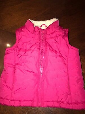 Baby Gap Toddler Girl Fleece Lined Puffer Vest Size 18-24 Months Free Shipping
