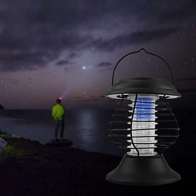 Car Camping Caravan Mosquito Bug Zapper Solar UV Flying Insects Moth Killer AU!