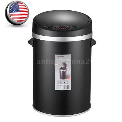 Stainless Steel Touch Free Sensor Automatic Touchless Trash Can Basket Bin M3Z4
