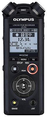 New!! Official OLYMPUS Linear PCM Recorder LS-P4 Black form Japan Import