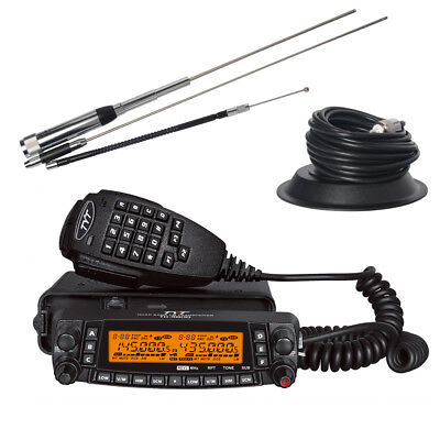 TYT TH-9800 Ham Transceiver 50W Quad Band In-Vehicle Mobile Car Radio Whole Set